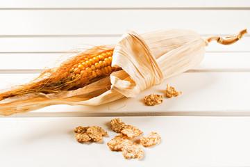 Cob with cornflakes