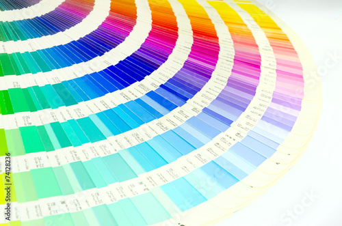 Poster color guide swatch - for designers and printers