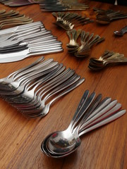 cutlery table hand