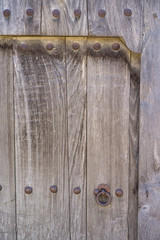 Old wooden door and lock