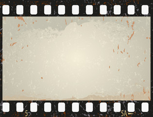 Grunge film frame, vector