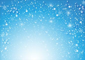 schneeflocken auf blauen Hintergrund