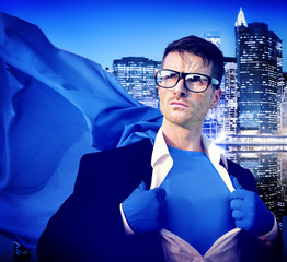 Strong Superhero Professional Leadership Business Concept