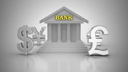 World Currencies Rotate Around Bank