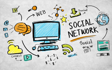 Social Network Web Social www Download Concept