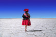 Uyuni salt lake folklore dancer - 74130860