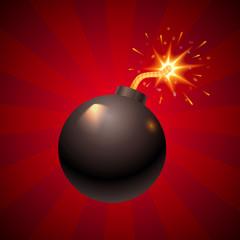 black retro bomb