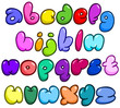 Comic bubble lower case alphabet