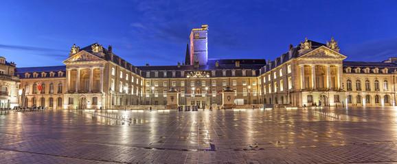 Evening panorama of Liberation Square, Dijon