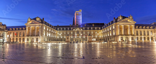 Evening panorama of Liberation Square, Dijon - 74131410