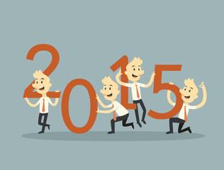 businessman teamwork holding 2015