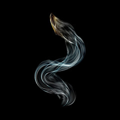 great smoke with hot top waves abstract background vector