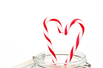Zuckerstangen Herz