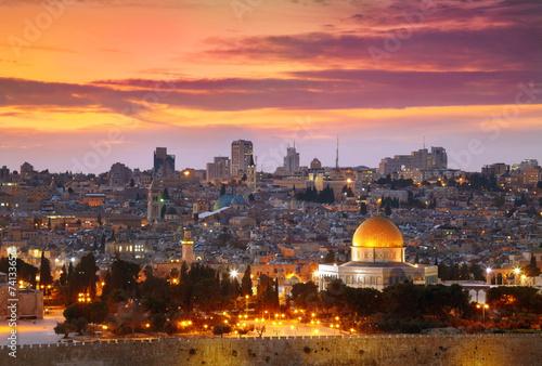 View of Jerusalem old city. Israel - 74133656