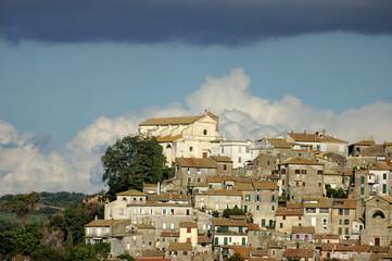 Italian village of Anguillara Sabazia