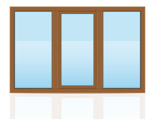 brown plastic transparent window view outdoors vector illustrati