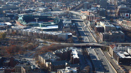 A timelapse view of a Boston, Massachusetts neighborhood