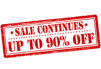Up to ninety percent off