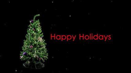 4K Stop Motion Christmas Tree Loop With snowflakes