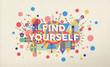 Find yourself quote poster design background - 74138466