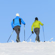 Skiwandern in winterlicher Natur