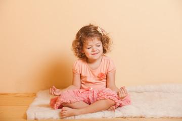 Little girl plays
