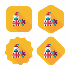Gift flat icon with long shadow,eps10