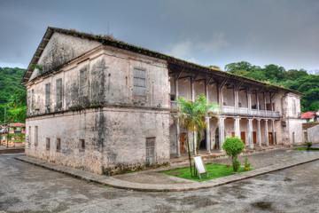 Old spanish custom building in Portobelo, Panama