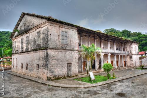 Old spanish custom building in Portobelo, Panama - 74139669