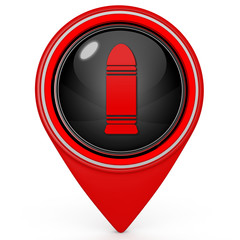 Bullet pointer icon on white background