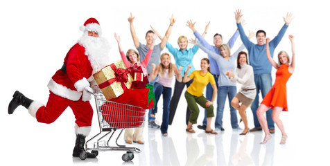 Happy christmas people group
