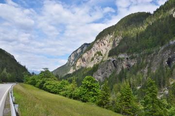 Austrian Alps-view to Reschen road