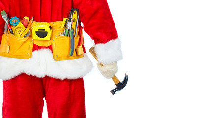 Santa Worker with a tool belt.