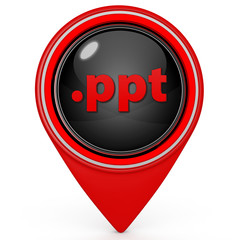 .ppt pointer icon on white background