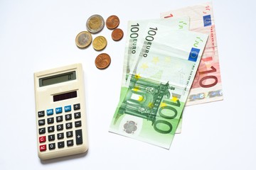 Euro money banknotes calculator