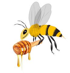 honey and bee