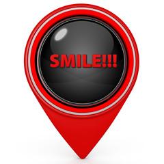 Smile pointer icon on white background