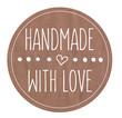 Leinwanddruck Bild - Logo Handmade