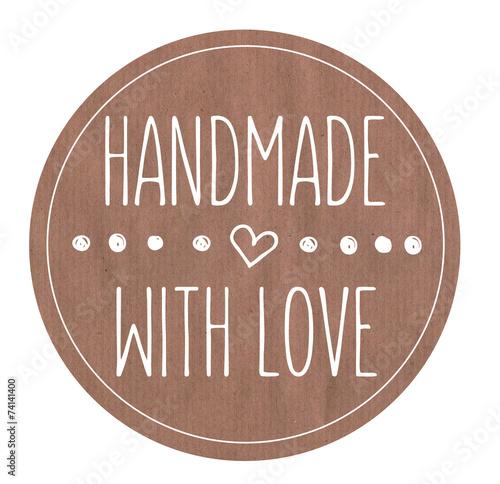 Leinwanddruck Bild Logo Handmade