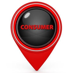Consumer pointer icon on white background