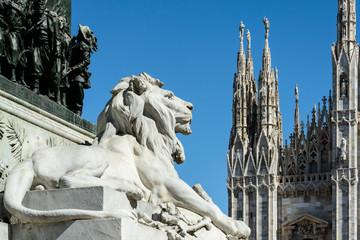 Leone in piazza Duomo