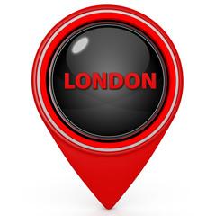 London pointer icon on white background