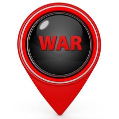 War pointer icon on white background