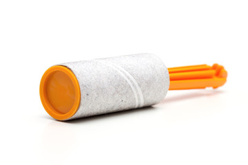 cleaning roller on the white background