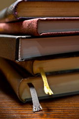 detail of books