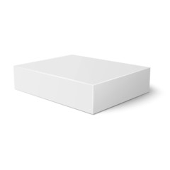 White flat paper box template.