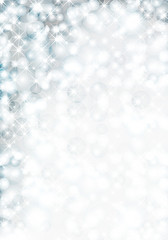 Christmas background with lights and snowflake