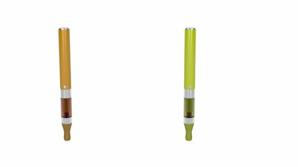 Electronic cigarettes with different colours and flavours