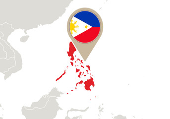 Philippines on World map
