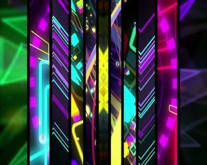 полосы  световые вертикальные